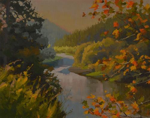 """Russian River Morning"" original fine art by John White"