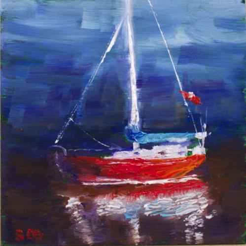 """Breaking Dawn Reflections"" original fine art by Sue Churchgrant"