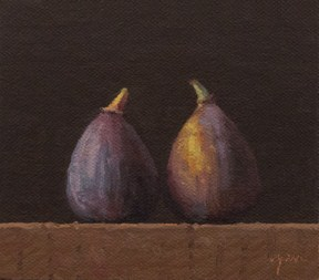 """Two Figs No. 3"" original fine art by Abbey Ryan"