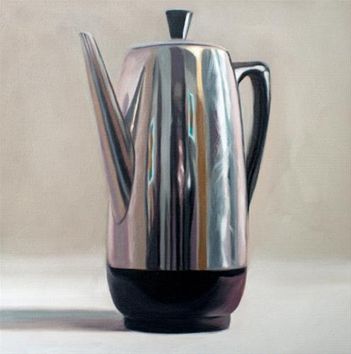 """Single Coffee Percolator"" original fine art by Lauren Pretorius"