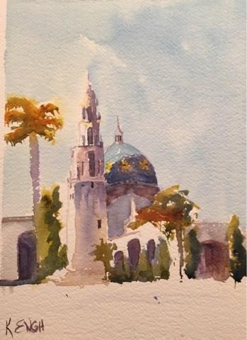 """Morning Light Balboa Park"" original fine art by Katharine Engh"