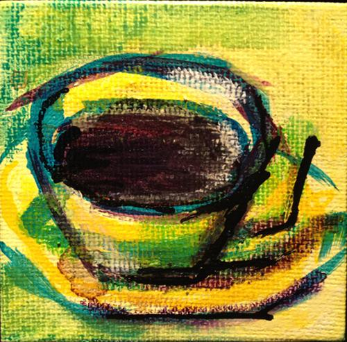 """Coffee No Cookie"" original fine art by - JanettMarie"