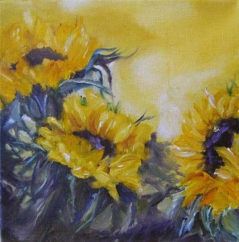 """Sunnies on yellow."" original fine art by Kathleen Barnes"