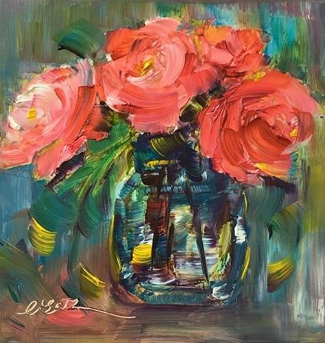 """""""Summer Blooming"""" original fine art by Lisa Fu"""