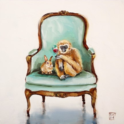 """hoppy thanks gibbon"" original fine art by Kimberly Applegate"