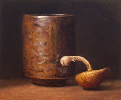 """""""Japanese cup and shiitake mushroom - available"""" original fine art by Abbey Ryan"""