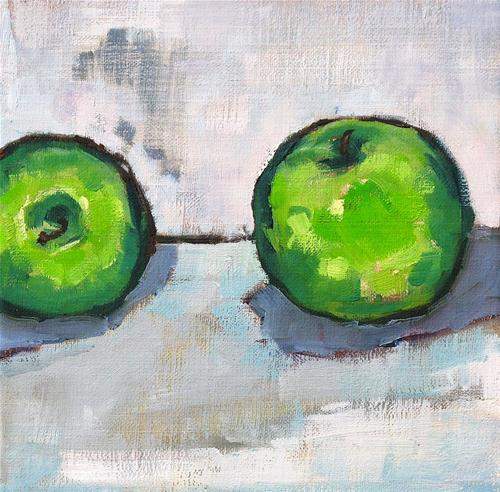 """Granny Smith Apples"" original fine art by Kevin Inman"