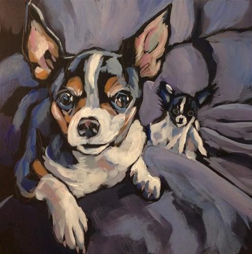 """Bella And Jackson"" original fine art by Kat Corrigan"