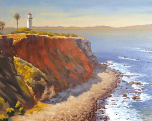 """Pt. Fermin Lookout"" original fine art by John White"