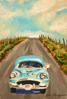 Sunday Drive original fine art by Joanne Perez Robinson