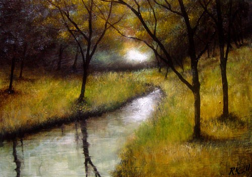 """The Virgin River"" original fine art by Bob Kimball"