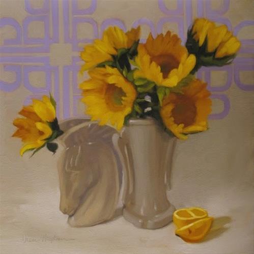 """""""Modern floral still life painting by Hoeptner"""" original fine art by Diane Hoeptner"""