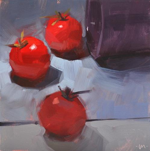 """Curiosity Killed the Tomato"" original fine art by Carol Marine"