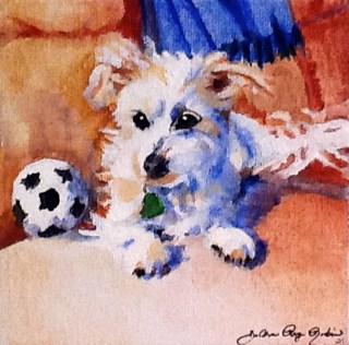 """""""Best Friend"""" original fine art by JoAnne Perez Robinson"""