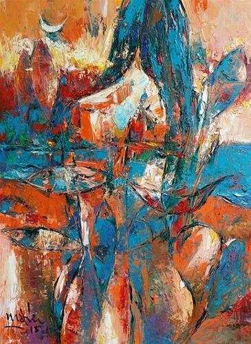 """The Girl and the Sea"" original fine art by Duc Tran"