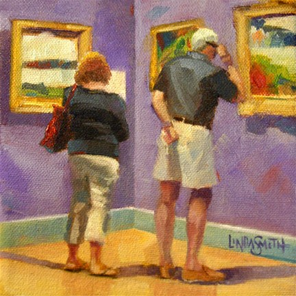 """Closer Look"" original fine art by Linda K Smith"