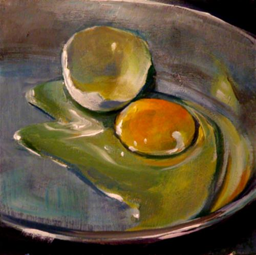 """EGG IN THE PAN"" original fine art by Brian Cameron"