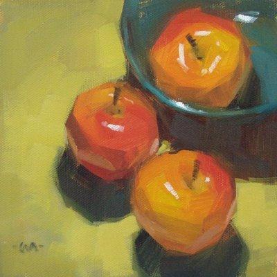 """Visiting Day"" original fine art by Carol Marine"