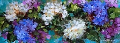 """Love Abounds Hydrangea Flower Painting by Nancy Medina"" original fine art by Nancy Medina"