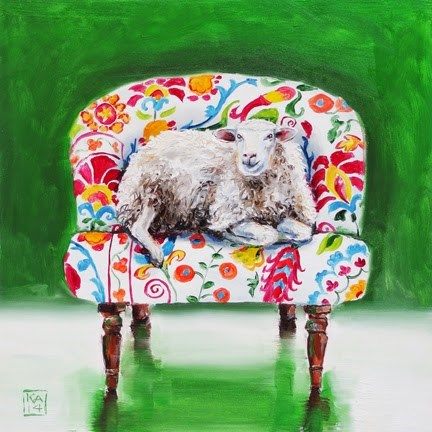 """sheepish"" original fine art by Kimberly Applegate"