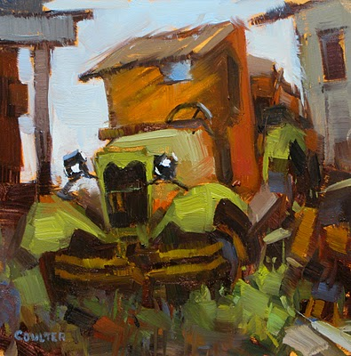 """1929 Ford AA C Cab"" original fine art by James Coulter"