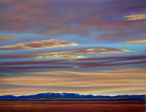 """New Sky Over Ol' Baldy"" original fine art by Carol Zirkle"