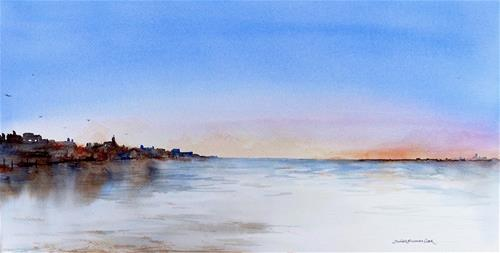 """Low Tide at Sunset, Nantasket"" original fine art by Judith Freeman Clark"
