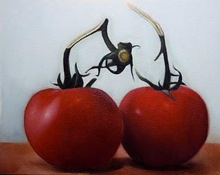 """""""Tomatski 2"""" original fine art by Jonathan Aller"""