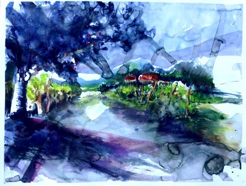 """1735 After the rain"" original fine art by Dietmar Stiller"