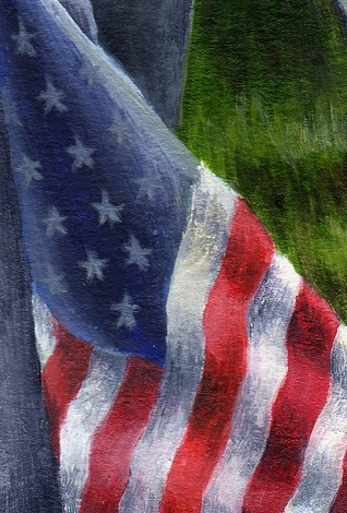 """""""Fourth of July"""" original fine art by Debbie Shirley"""