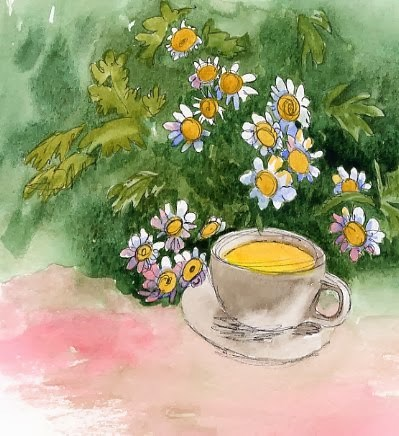 """Tea for You"" original fine art by Sue Furrow"