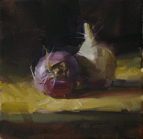 """Turnip Study --- Sold"" original fine art by Qiang Huang"