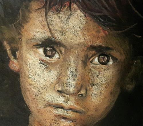 """""""Ragamuffin"""" original fine art by Rentia Coetzee"""