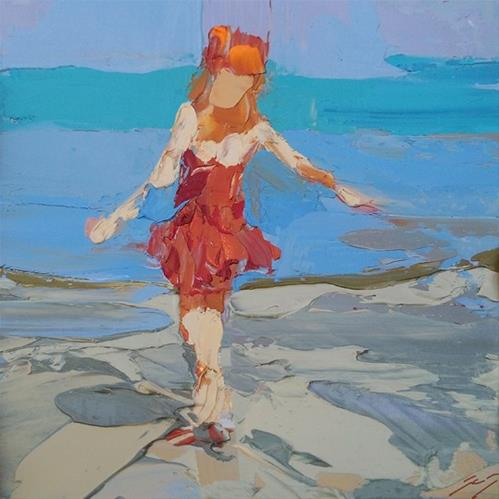 """Twirling by Sally Shisler"" original fine art by Sally Shisler"