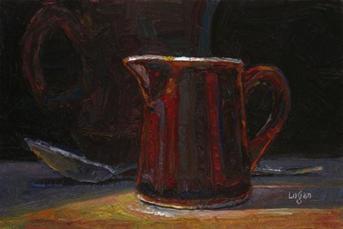 """Creamer"" original fine art by Raymond Logan"