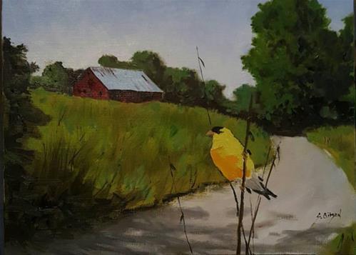 """Joseph Mandels Farm"" original fine art by Steve Gibson"