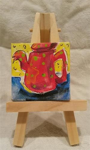 """""""Itty Bitty Teapot"""" original fine art by Terri Einer"""