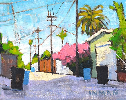 """South Park Alley"" original fine art by Kevin Inman"
