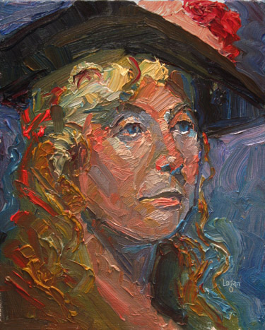 """Victorian Stacey"" original fine art by Raymond Logan"