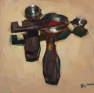"""Measure Up"" original fine art by Carol Marine"