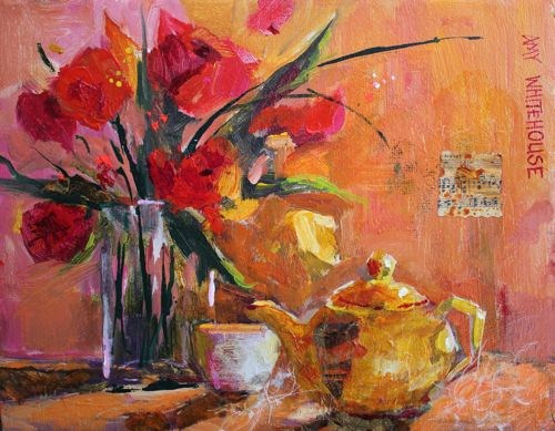 """Yellow Teapot"" original fine art by Amy Whitehouse"
