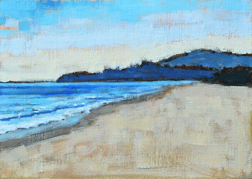 """Monarch Beach Twilight"" original fine art by Kevin Inman"