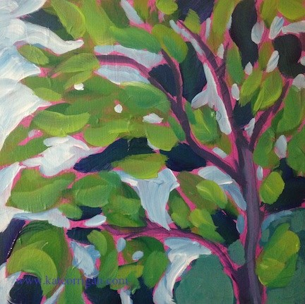 """Catalpa Sky"" original fine art by Kat Corrigan"