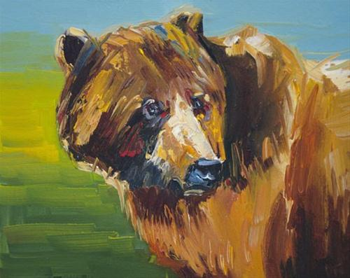 """Bear Art Oil Painting Diane Whitehead Fine Art-Make Offer"" original fine art by Diane Whitehead"
