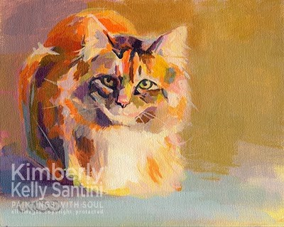 """Miss Kitty"" original fine art by Kimberly Santini"