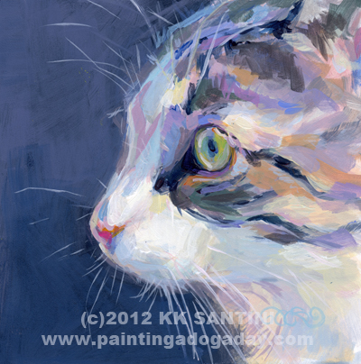"""Gray (Stanley's Profile)"" original fine art by Kimberly Santini"