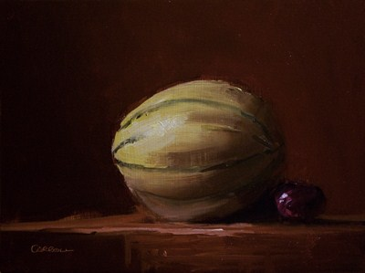 """Cantaloupe"" original fine art by Neil Carroll"