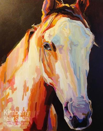 """Hidalgo"" original fine art by Kimberly Santini"