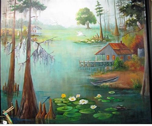 """""""Adams Bayou"""" original fine art by Barbara Haviland"""