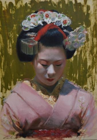 """Portrait of a Maiko"" original fine art by Phil Couture"